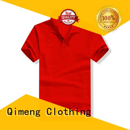 QiMeng fashion personalized polo shirts button design for promotional campaigns