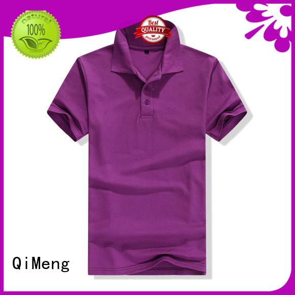 QiMeng bulk custom embroidered polo shirts in different color