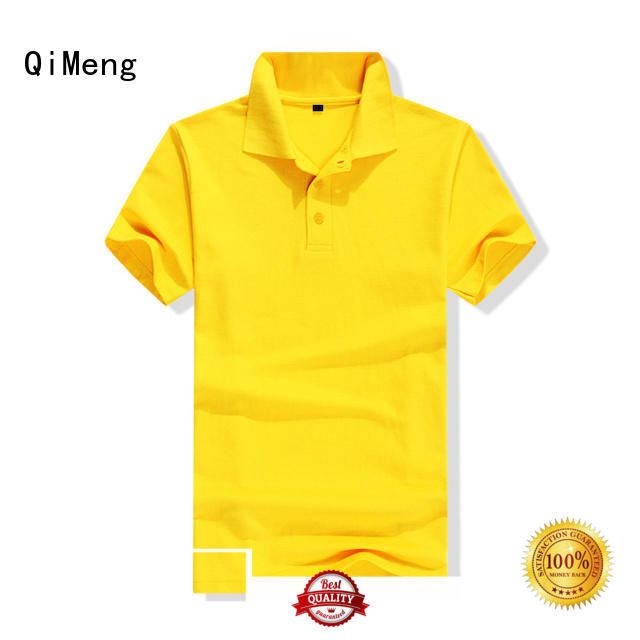 Promotional custom CVC Polo T Shirt with Button Design