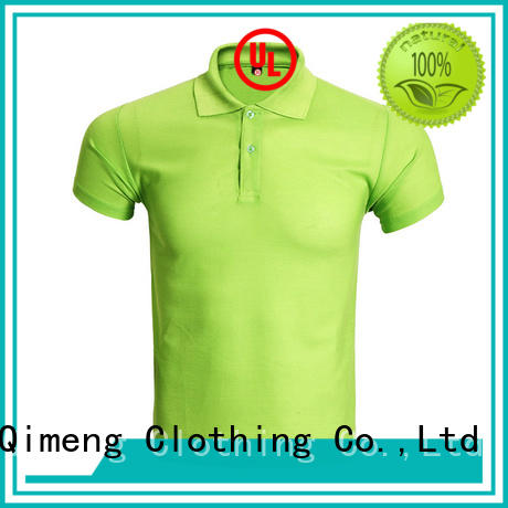 QiMeng latest-arrival men golf polo shirt with many colors for leisure travel
