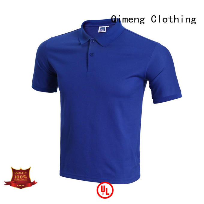 QiMeng directly polyester polo t shirts in different color for daily wear