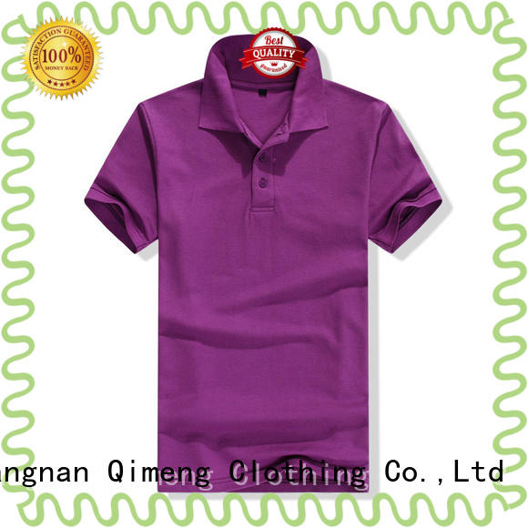 QiMeng 100%cotton cotton polo shirts women producer for outdoor activities