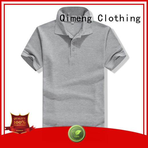QiMeng poloneck plain polo shirts vendor for outdoor activities