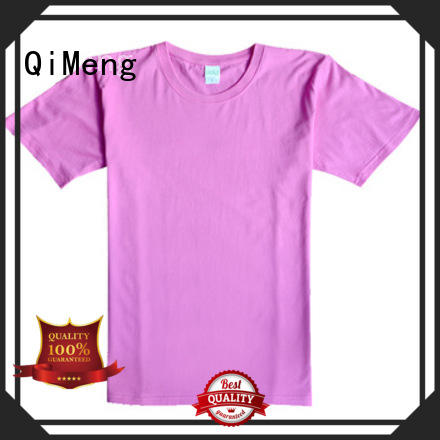 QiMeng soft custom printed t shirts supplier for daily wear