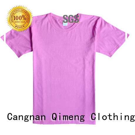 QiMeng 100%cotton slim fit t shirt experts for sporting