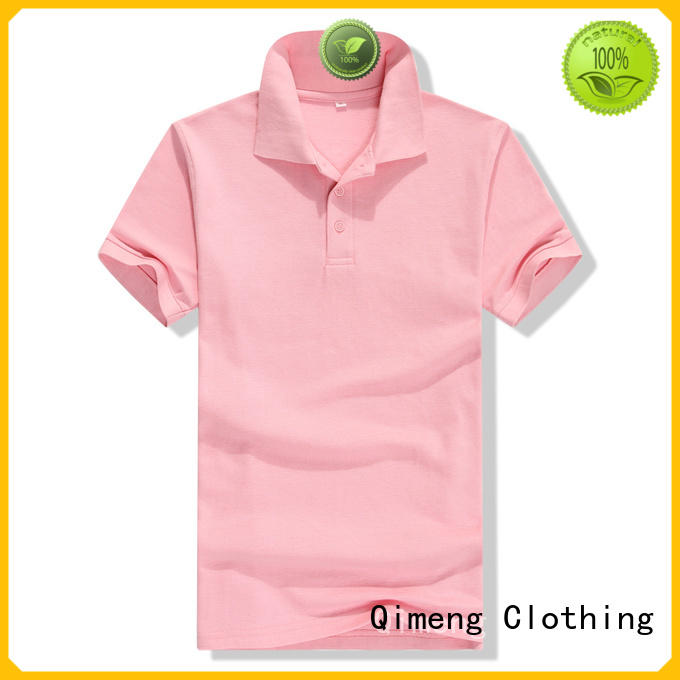 QiMeng 100%cotton youth polo shirts for leisure travel