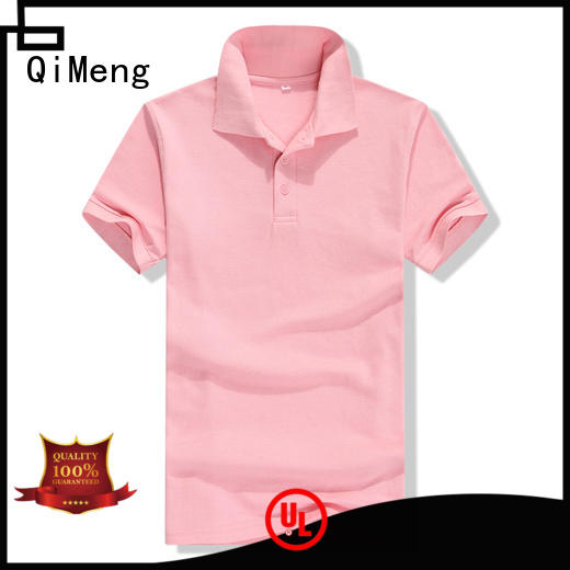 QiMeng button ladies polo shirts  supply