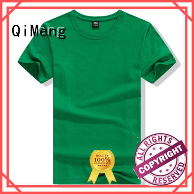 QiMeng O-neck custom printed tshirts for daily wear