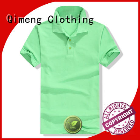QiMeng inexpensive polo shirt 100% cotton for business meetings