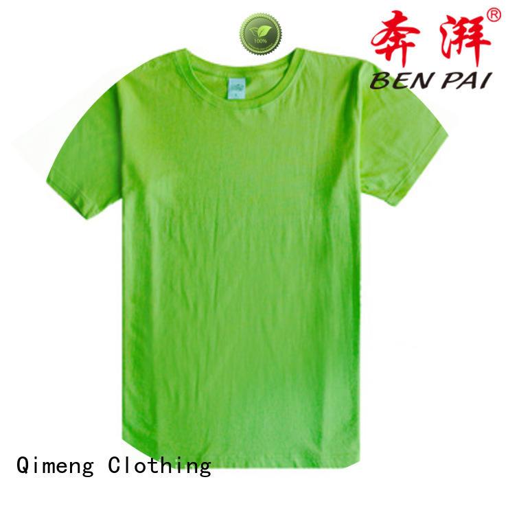 QiMeng neck custom t-shirt for-sale for team-work
