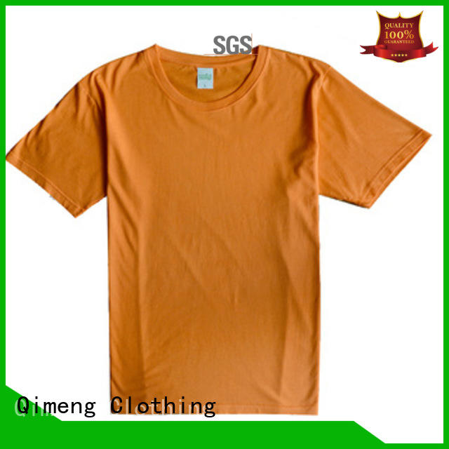 QiMeng shirt custom cotton t-shirt in different color for daily wear