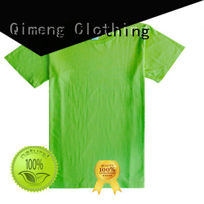 QiMeng printed custom embroidered t shirts price for sporting