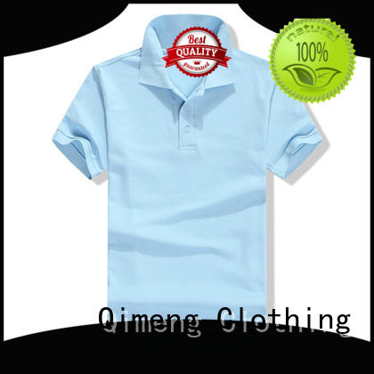 QiMeng from cotton polo shirts women button design for promotional campaigns