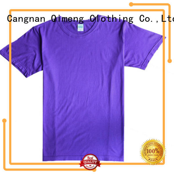 QiMeng organic plain t-shirts in different color in street