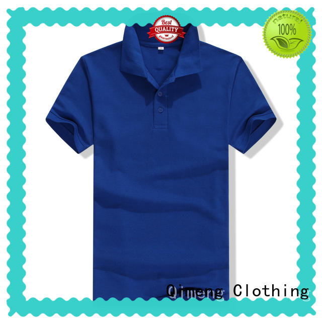 QiMeng button 100% cotton polo shirts directly sale for team-work