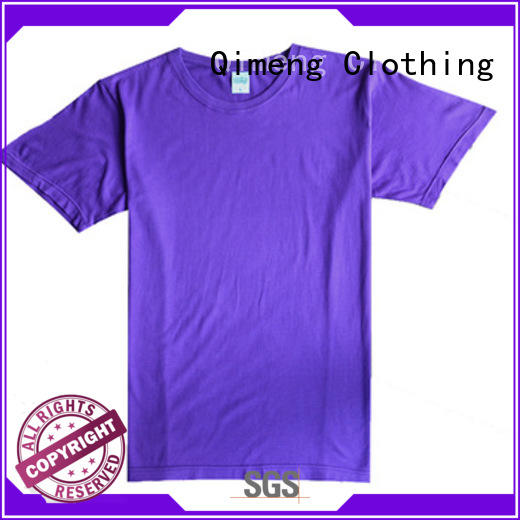 QiMeng customized custom tee shirts in China for promotional campaigns