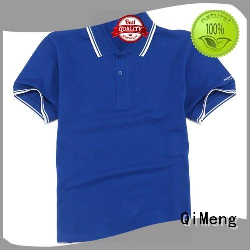 QiMeng mens 100% cotton polo shirts manufacturer for leisure travel