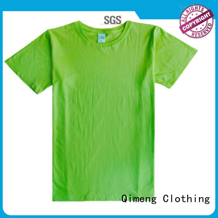QiMeng bulk custom printed t shirts in different color for daily wear