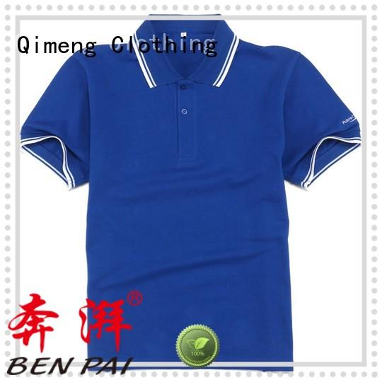 QiMeng plus polo shirts without logo wholesale  for leisure travel