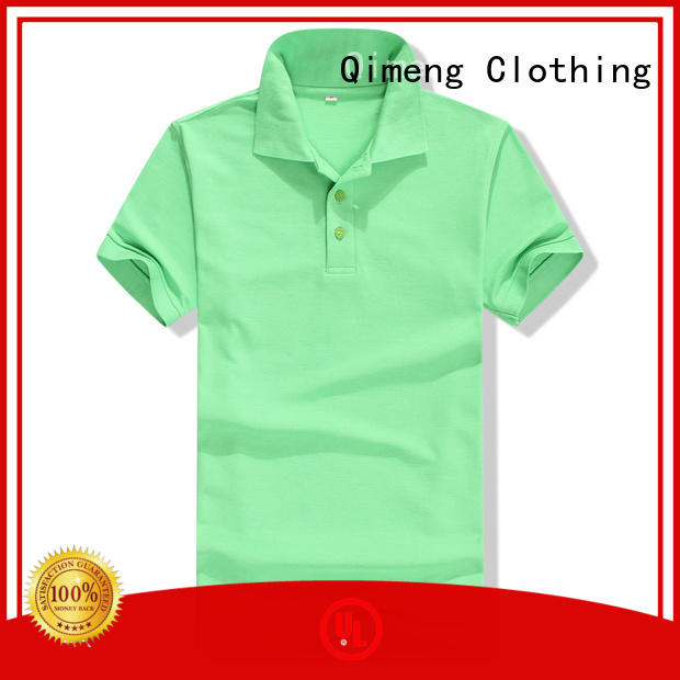 QiMeng men custom embroidered polo shirts vendor  for business meetings