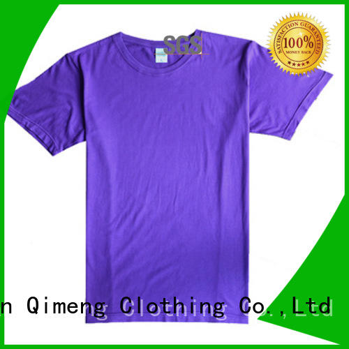 QiMeng logo custom t-shirt experts for sporting