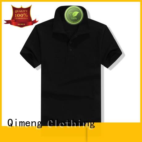 QiMeng blank plain polo shirts factory price