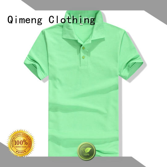 QiMeng short cotton polo shirts mens wholesale for business meetings