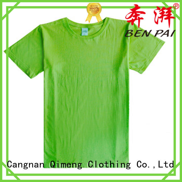 QiMeng customizable tee shirts custom print in different color