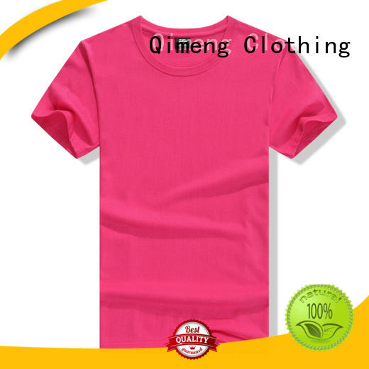 QiMeng modern t shirts cotton wholesale for outdoor activities