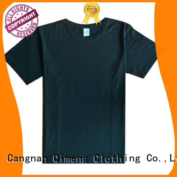 QiMeng newest t shirts cotton owner for outdoor activities