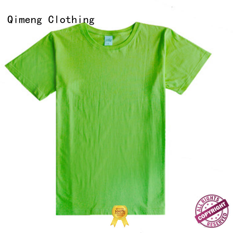 QiMeng promotional plain white t-shirts in China for daily wear
