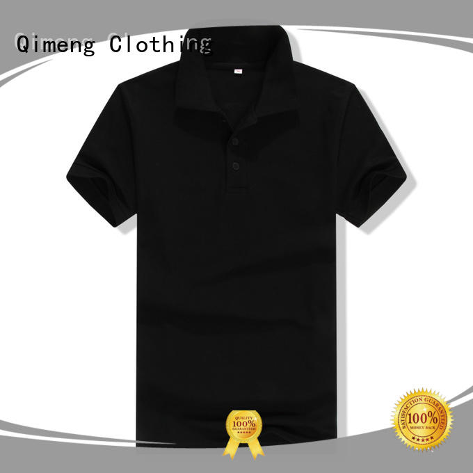 QiMeng attractive polyester polo t shirts factory price for promotional campaigns