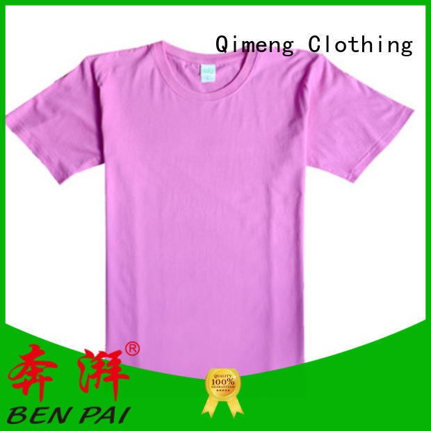 QiMeng promotional t shirts free samples supplier for team-work