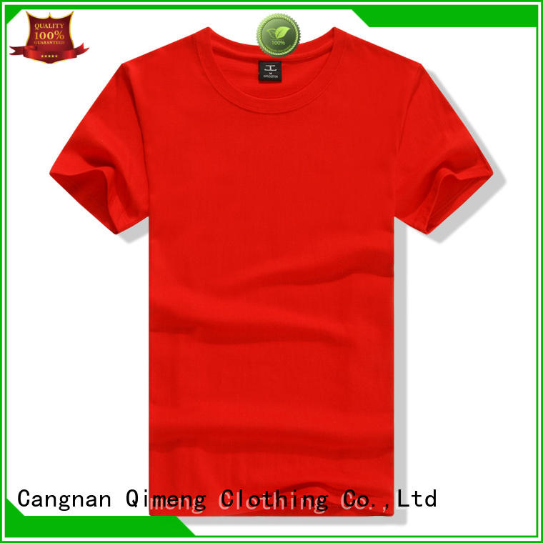 QiMeng superior custom t-shirt supplier for daily wear