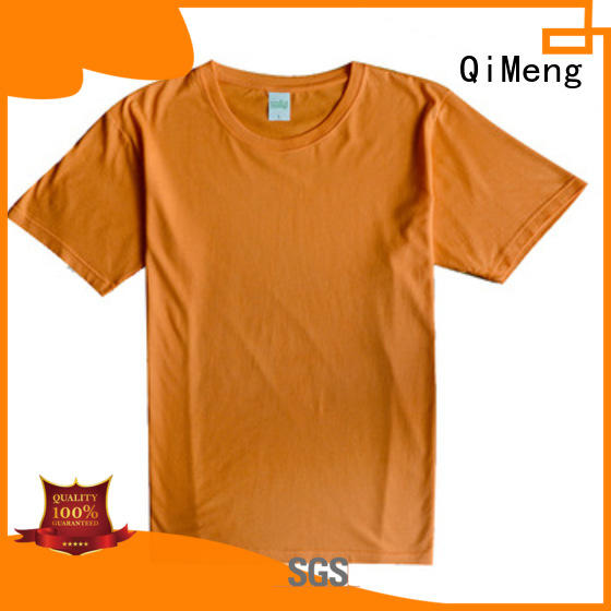 QiMeng daily-wear t shirts free samples wholesale for outdoor activities