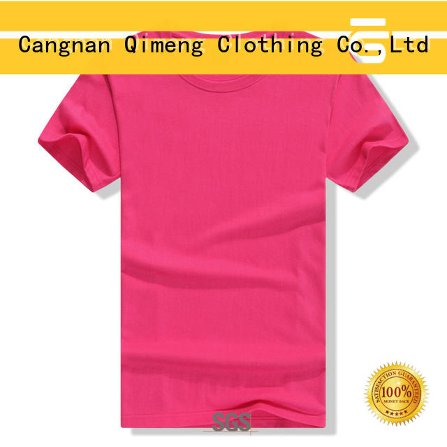 QiMeng daily-wear wholesale t shirt printing owner