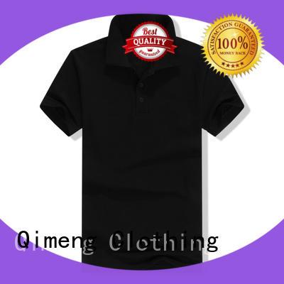 QiMeng blank men t shirts polo manufacturer