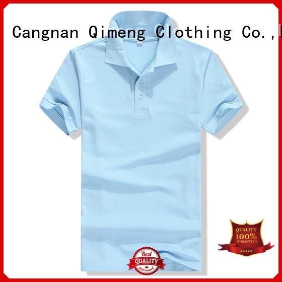 QiMeng bulk 100% cotton polo shirts vendor for outdoor activities