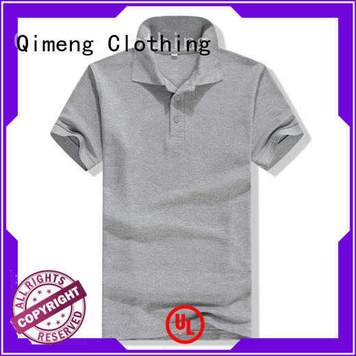 QiMeng polo custom logo polo shirt wholesale  for business meetings