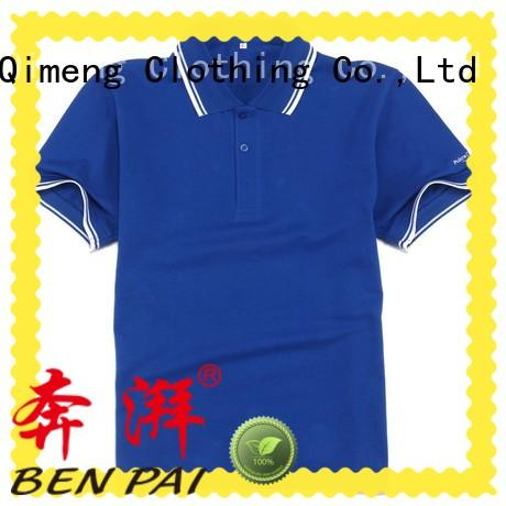 QiMeng clothes golf polo shirt for team-work